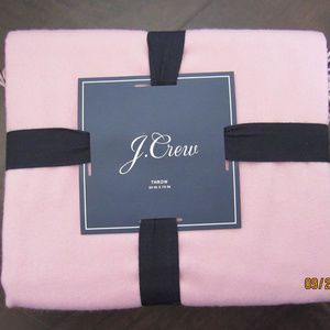 J.Crew Home Solid 100% Cashmere Blanket Throw